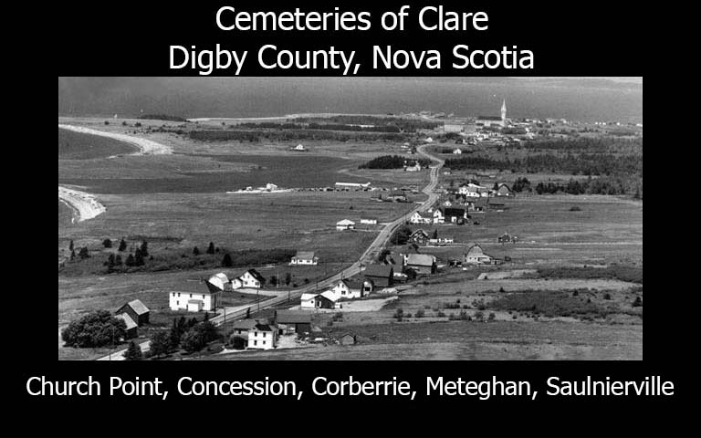 Cemeteries of Clare, Digby County, Nova Scotia